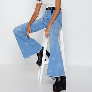 Nasty Gal Star Flare Jeans